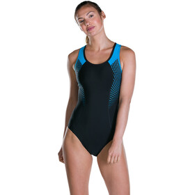 speedo W's Fit Pro Swimsuit Black/Winsdor Blue/White